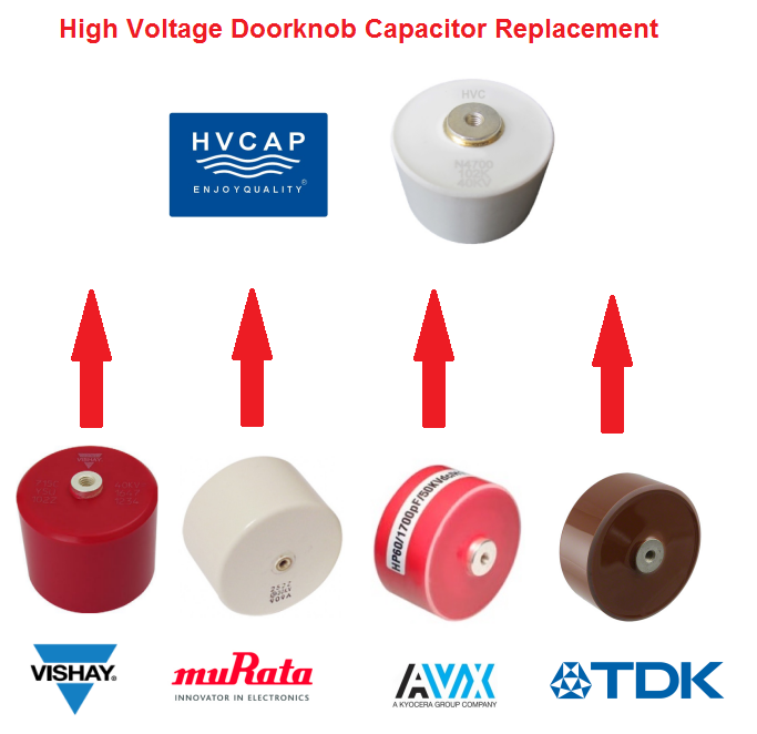 Alternative for Vishay 715C40DKD25 40KV 2500PF HV doorknob capacitor