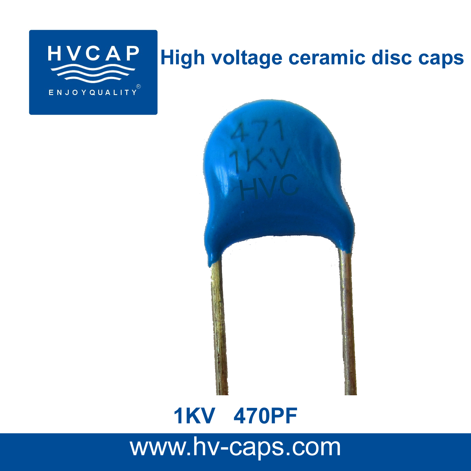 High Voltage Ceramic Capacitor 1KV 470PF