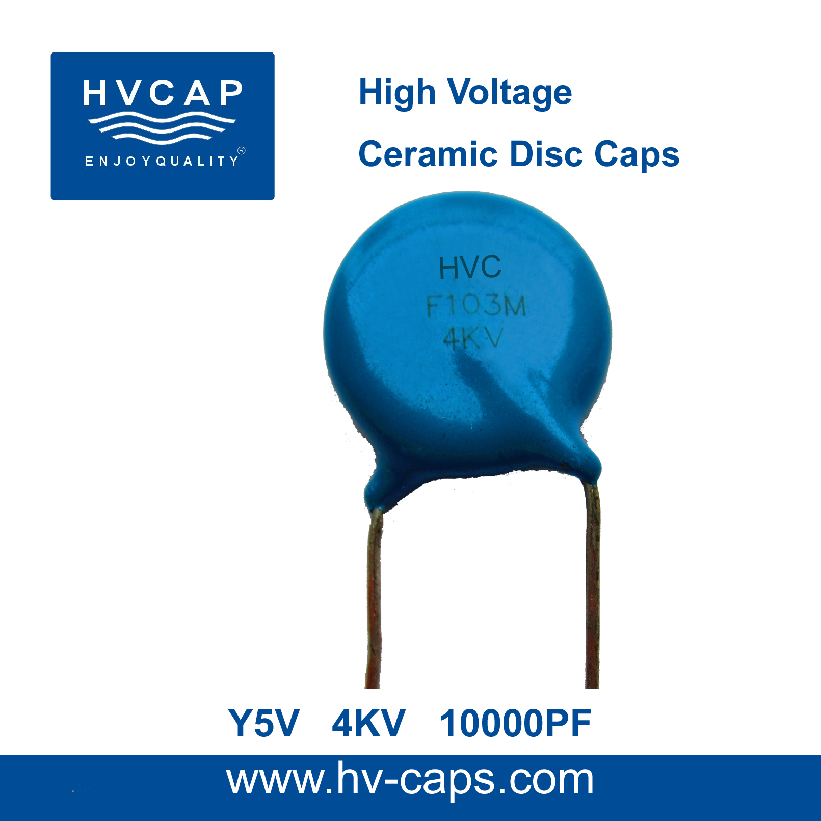 High Voltage Ceramic Doorknob Capacitor 20kv Ac 3300pf