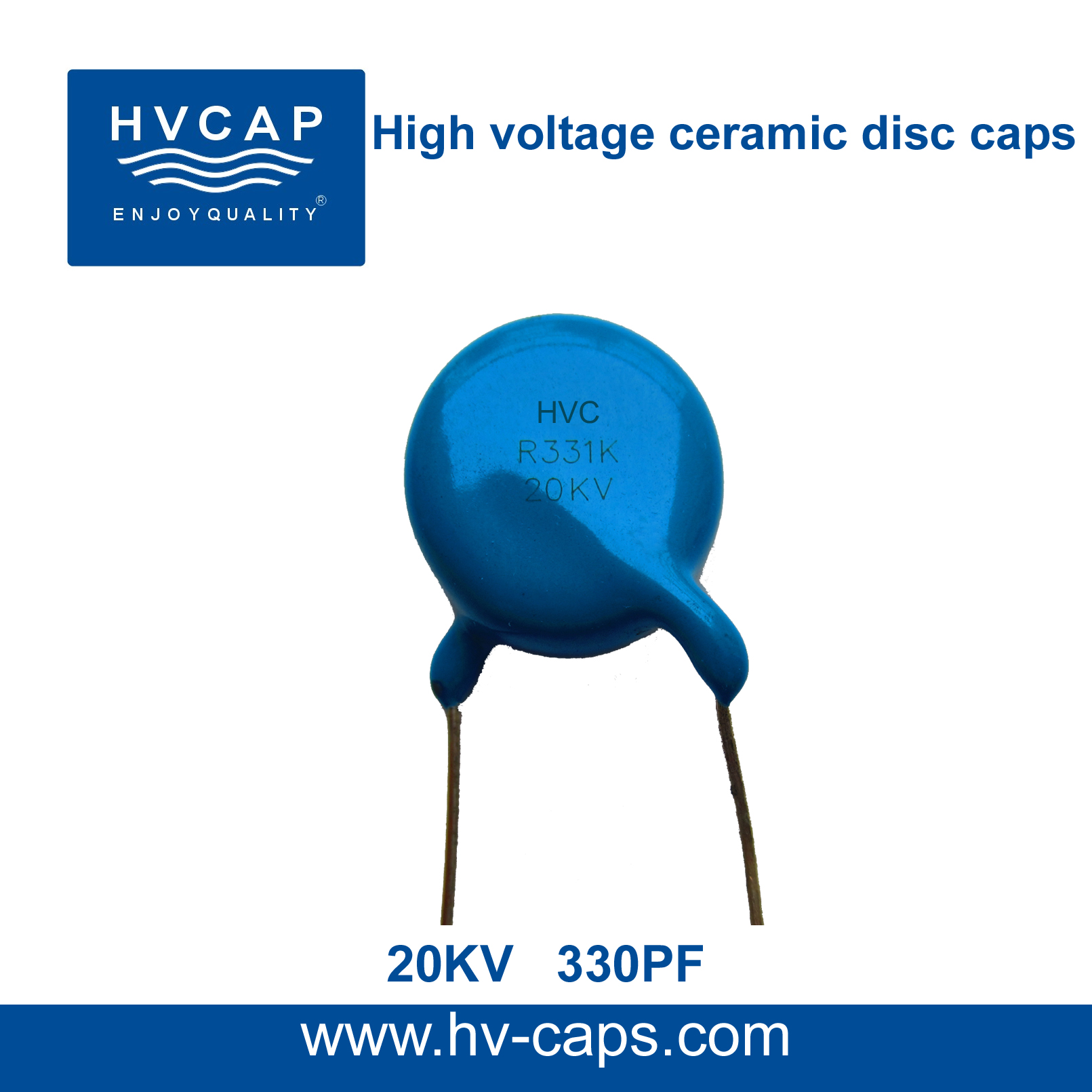 High Voltage Ceramic Disc Capacitor 20KV 330PF(20KV 331K)