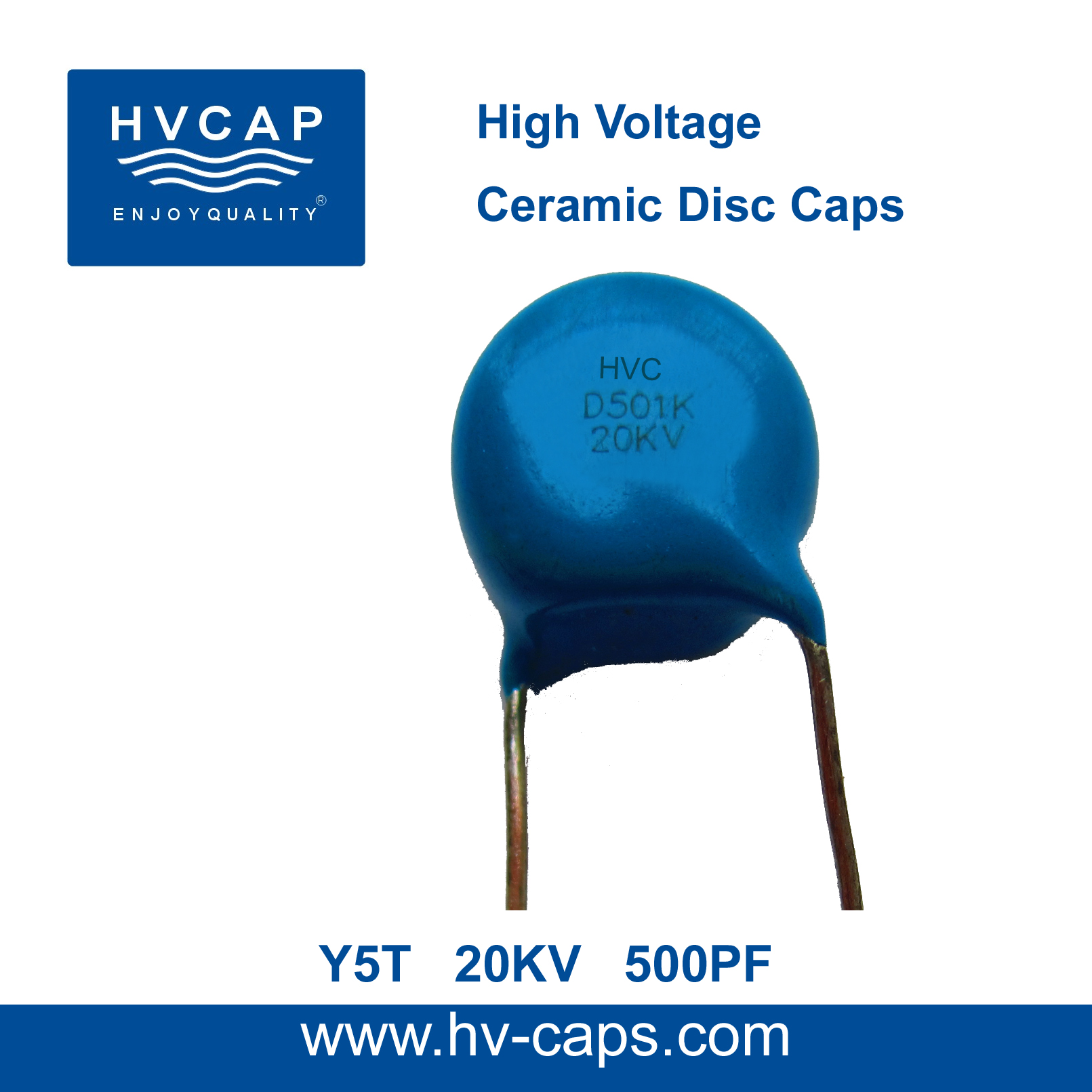 High Voltage Ceramic Disc Capacitor 20KV 500PF(20KV 501K)