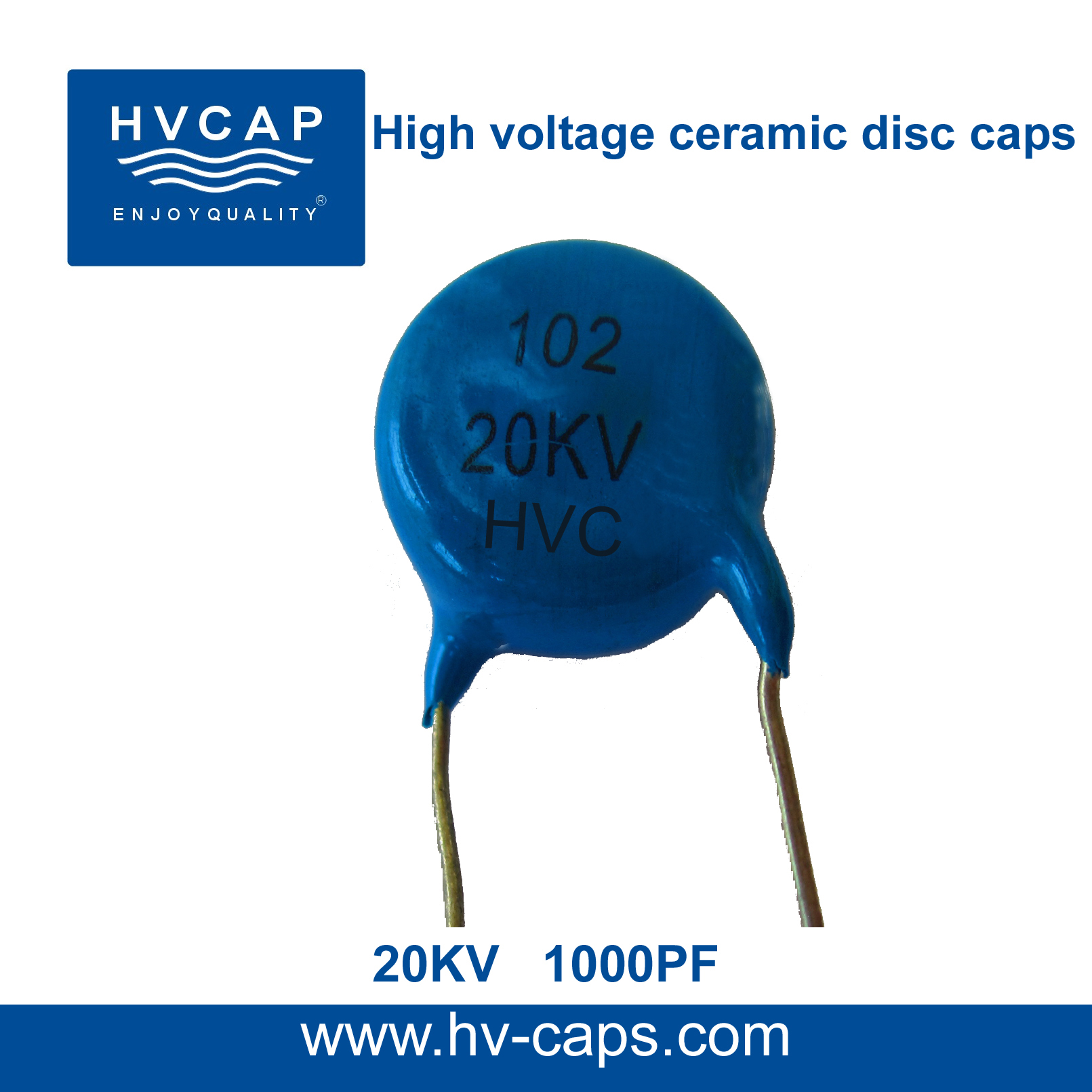 High Voltage Ceramic Disc Capacitor 20KV 1000PF(20KV 102K)