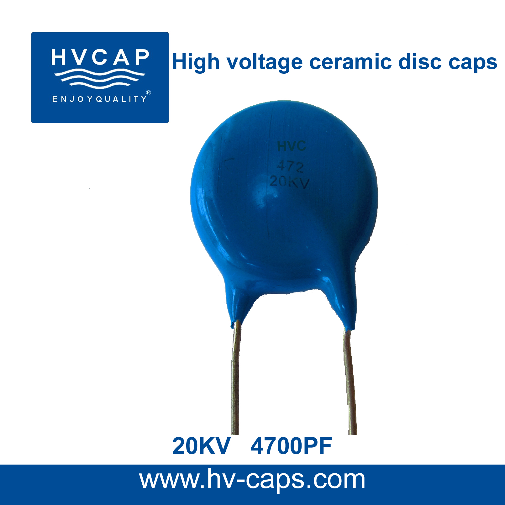High Voltage Ceramic Disc Capacitor 20KV 4700PF(20KV 472M)